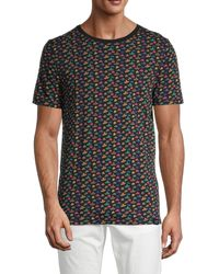 Scotch & Soda Hat-print Cotton Tee - Black