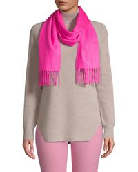 Saks Fifth Avenue Solid Cashmere Scarf - Grey