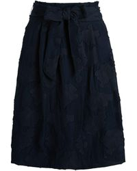 Karl Lagerfeld Burnout Floral A-line Skirt - Blue