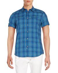 Calvin Klein Jeans - Plaid Cotton Short Sleeve Western Shirt - Lyst