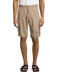 Buffalo David Bitton Classic Cargo Shorts - Natural