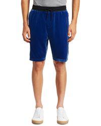 Madison Supply Velvet Track Shorts - Blue