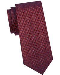 Armani Men's Printed Silk Tie - Red