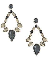 Ippolita - Sterling Silver Rock Candy® Large Multi-stone Open Teardrop Earrings - Lyst