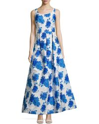 JS Collections - Floral A-line Gown - Lyst