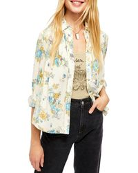 Free People Hold On To Me Printed Top - White