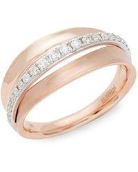 Effy 14k Two-tone & Diamond Band Ring - Multicolour