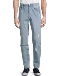 Standard Issue Men's Distressed Slim-fit Jeans - Grey - Size 36
