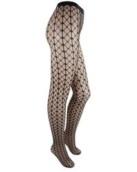 Wolford Tina Fishnet Patterned Tights - Black
