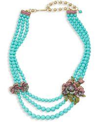 Heidi Daus Elysees Multi-color Crystal Glass Beaded Necklace - Multicolour
