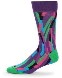 Bugatchi - Colorblock Mid-calf Socks - Lyst