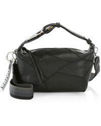Ganni Leather Hobo Bag - Black