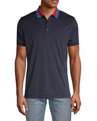 J.Lindeberg Contrast Collar Short-sleeve Polo - Blue