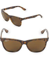 Ray-Ban 54mm Polarized Wayfarer Sunglasses - Brown