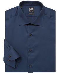 Ike Behar Solid Dress Shirt - Blue