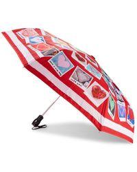 Boutique Moschino Graphic Folding Umbrella - Red