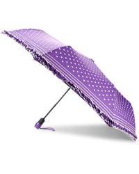 Boutique Moschino Striped & Polka Dot-print Umbrella - Ice Blue
