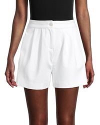 Saks Fifth Avenue Women's High-waisted Tailored Shorts - Navy - Size 10 - Blue