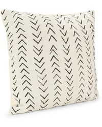 Saks Fifth Avenue Handspun African Mud Cloth Throw Pillow - White