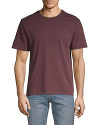 Vince Men's Short-sleeve Cotton Tee - Washed Yellow - Size M - Purple