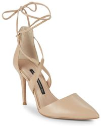 French Connection - Elise Leather Court Shoes - Lyst