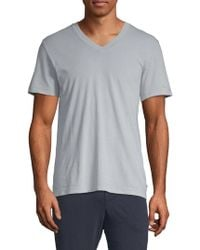 James Perse - Combed Cotton V-neck Tee - Lyst