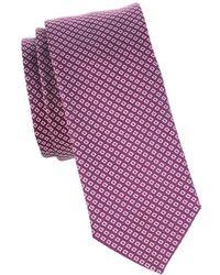 BOSS by HUGO BOSS Geometric Woven Tie - Pink