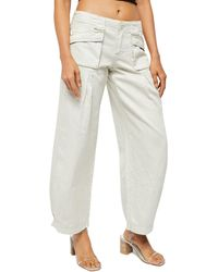 Free People Birch Wide-leg Jeans - Multicolour