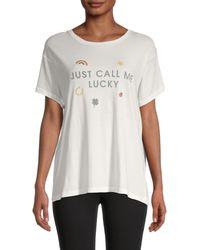 Wildfox Graphic Cotton T-shirt - White