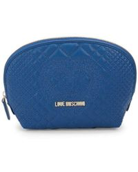 Love Moschino - Quilted Faux Leather Zip Pouch - Lyst