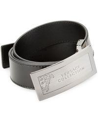 Versace - Hardware Leather Belt - Lyst