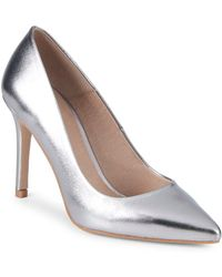 Saks Fifth Avenue - Classic Leather Point Toe Pumps - Lyst