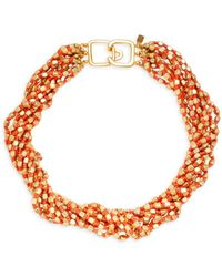 Kenneth Jay Lane Women's 22k Gold Electroplated Multi-stand Beaded Collar Necklace - Metallic
