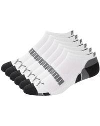 PUMA 6-pack Logo Low-cut Socks - White