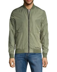 ab90f23eb Slim Fit Bomber Jacket - Green