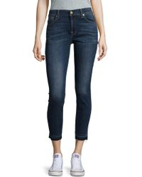 7 For All Mankind - Ankle Gwenevere Denim Jeans - Lyst