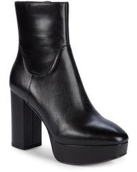 Ash Women's Amazon Leather Platform Booties - Black - Size 40 (10)