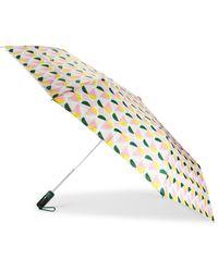 Kate Spade Geo-print Travel Umbrella - Metallic