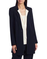 Akris Punto Oversized Long-line Blazer Coat - Blue