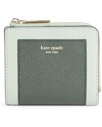 Kate Spade Margaux Square Leather Wallet - Green