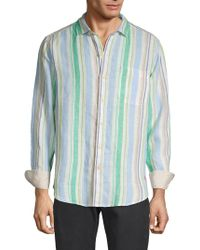 Tommy Bahama - Striped Linen Button-down Shirt - Lyst