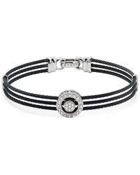 Alor - 18k White Gold, Stainless Steel & Diamond Multi-strand Bracelet - Lyst