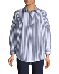 French Connection Phodes Striped Shirt - Blue