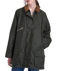Barbour X Alexa Chung Edith Waxed Cotton Jacket - Grey