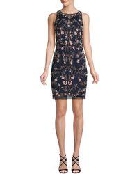 Adrianna Papell Embellished Sheath Dress - Blue