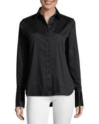 Robert Graham Women's Priscilla Embroidered Bird Stretch-cotton Shirt - Black - Size Xs
