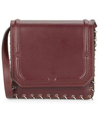 DANNIJO - Lypton Chain-detail Leather Crossbody Bag - Lyst