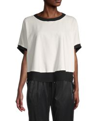 BLANC NOIR Abstract-print Stretch-cotton Sweatshirt - Black
