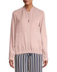 Lafayette 148 New York Ziggy Bomber Jacket - Pink