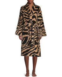 Roberto Cavalli Leopard Cotton Bathrobe - Multicolour